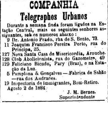 telegrafo 1884