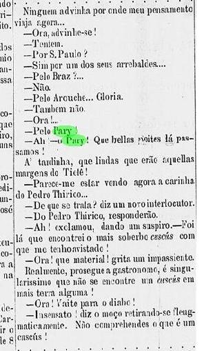 dialogo sobre cuscus do pari