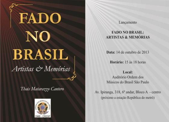 convite fado no brasil