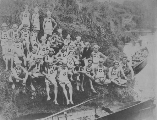 Remadores da A.A.São Paulo - Rio Tietê - 1918