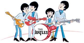caricatura dos beatles