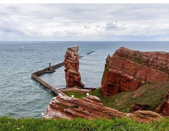 mar do norte visto de helgoland