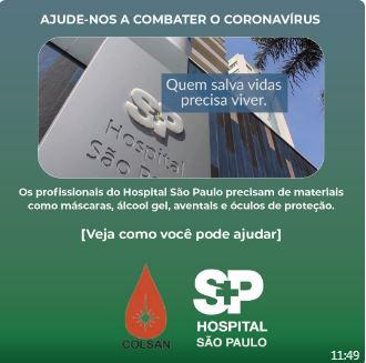 doaçoes hospital s. paulo